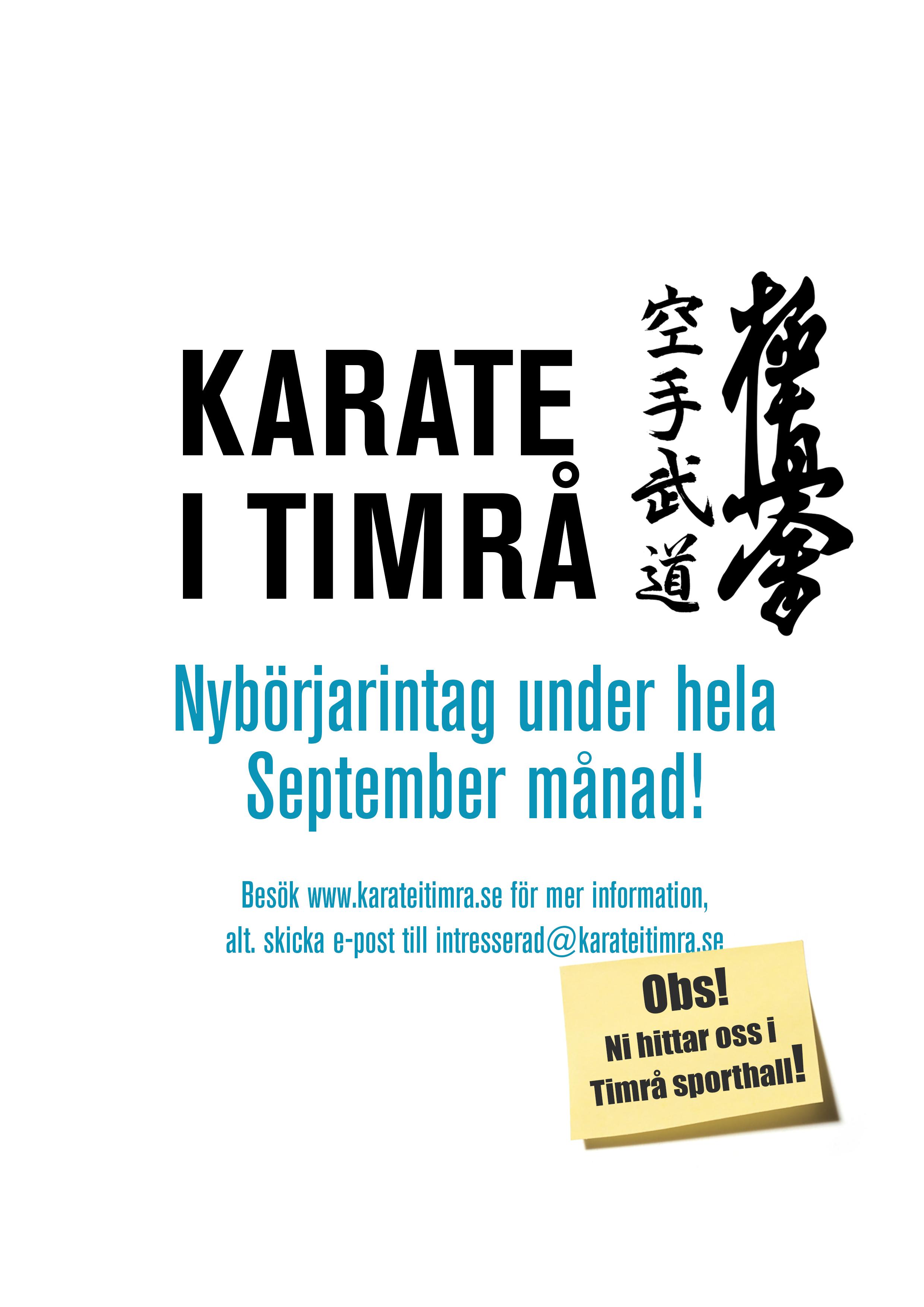 Karate i timrå affisch ht 2018